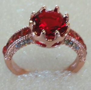 Ruby rose gold woman's ring